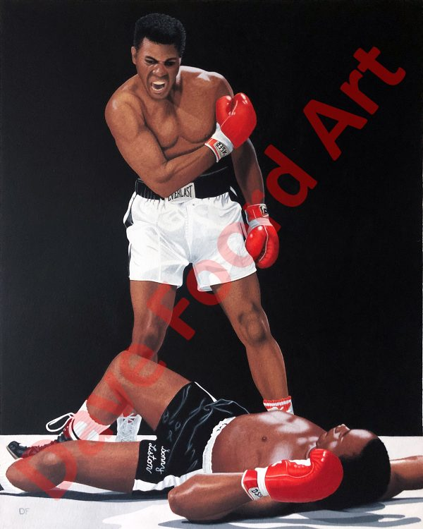 Muhammad Ali Sonny Liston Original Painting